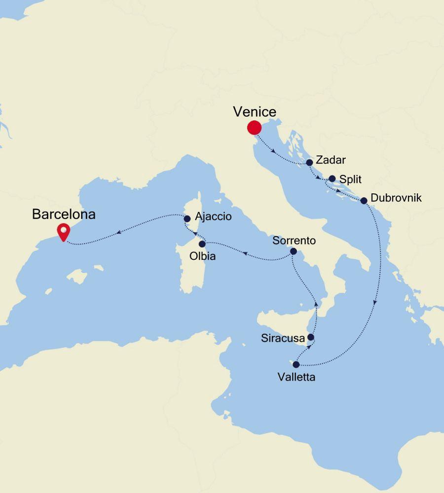 SS200618012 - Venice to Barcelona