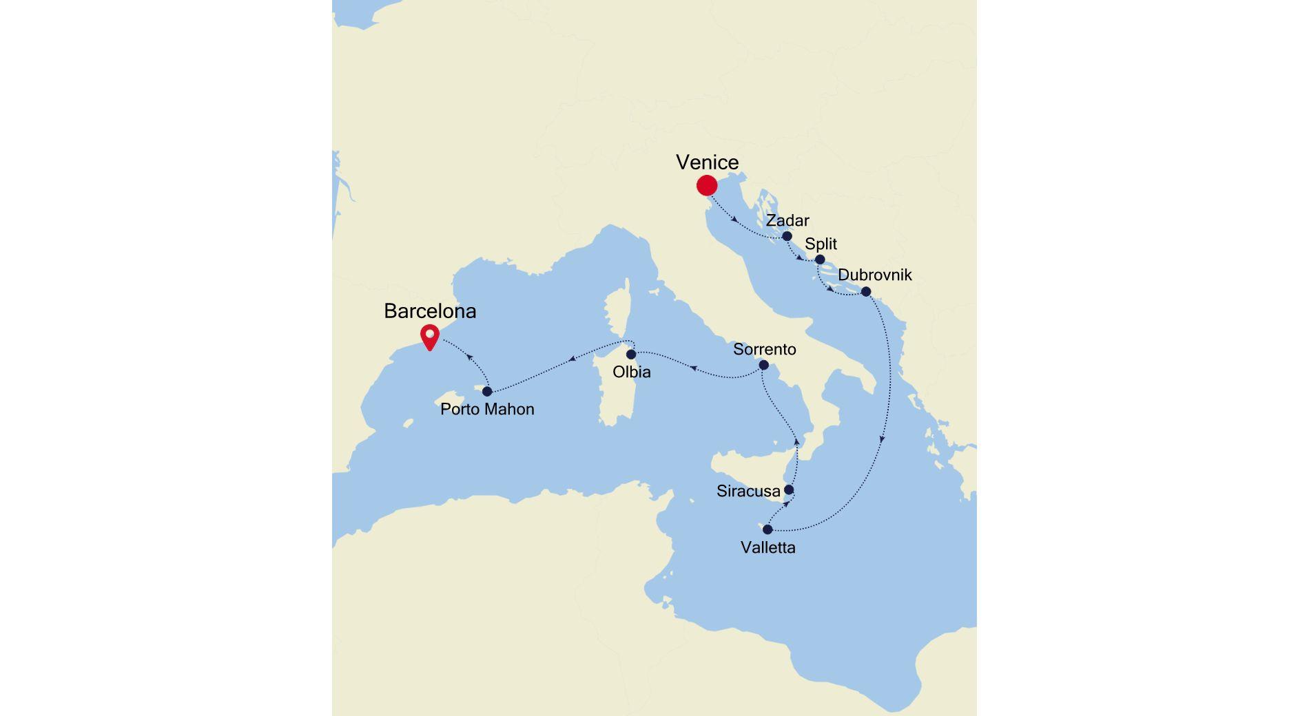 SS200618010 - Venice to Barcelona