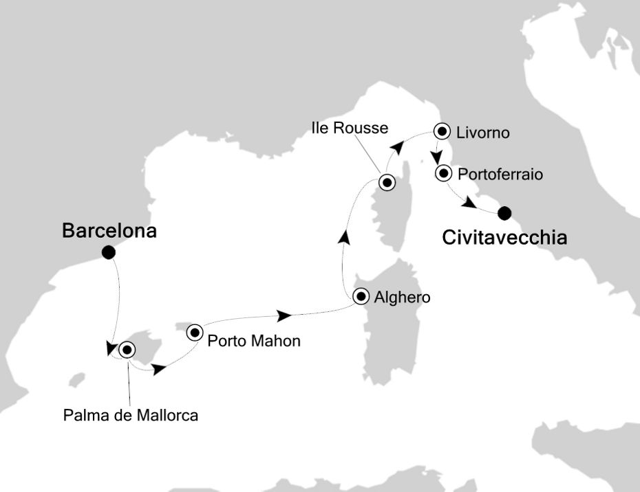 SS200630007 - Barcelona a Civitavecchia