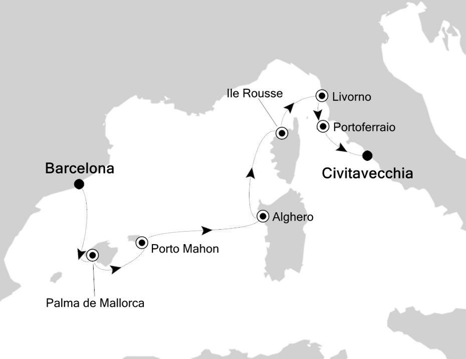 SS200630007 - Barcelona à Civitavecchia