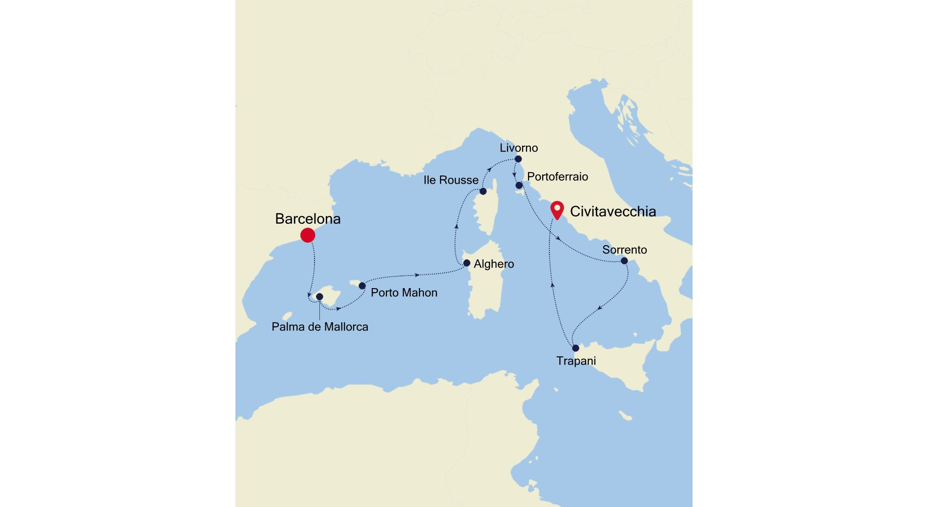SS200630010 - Barcelona to Civitavecchia