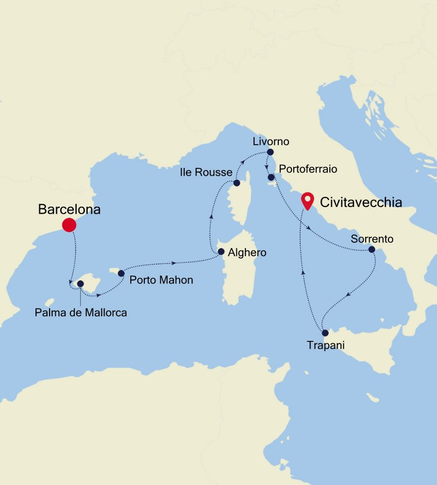 SS200630010 - Barcelona à Civitavecchia