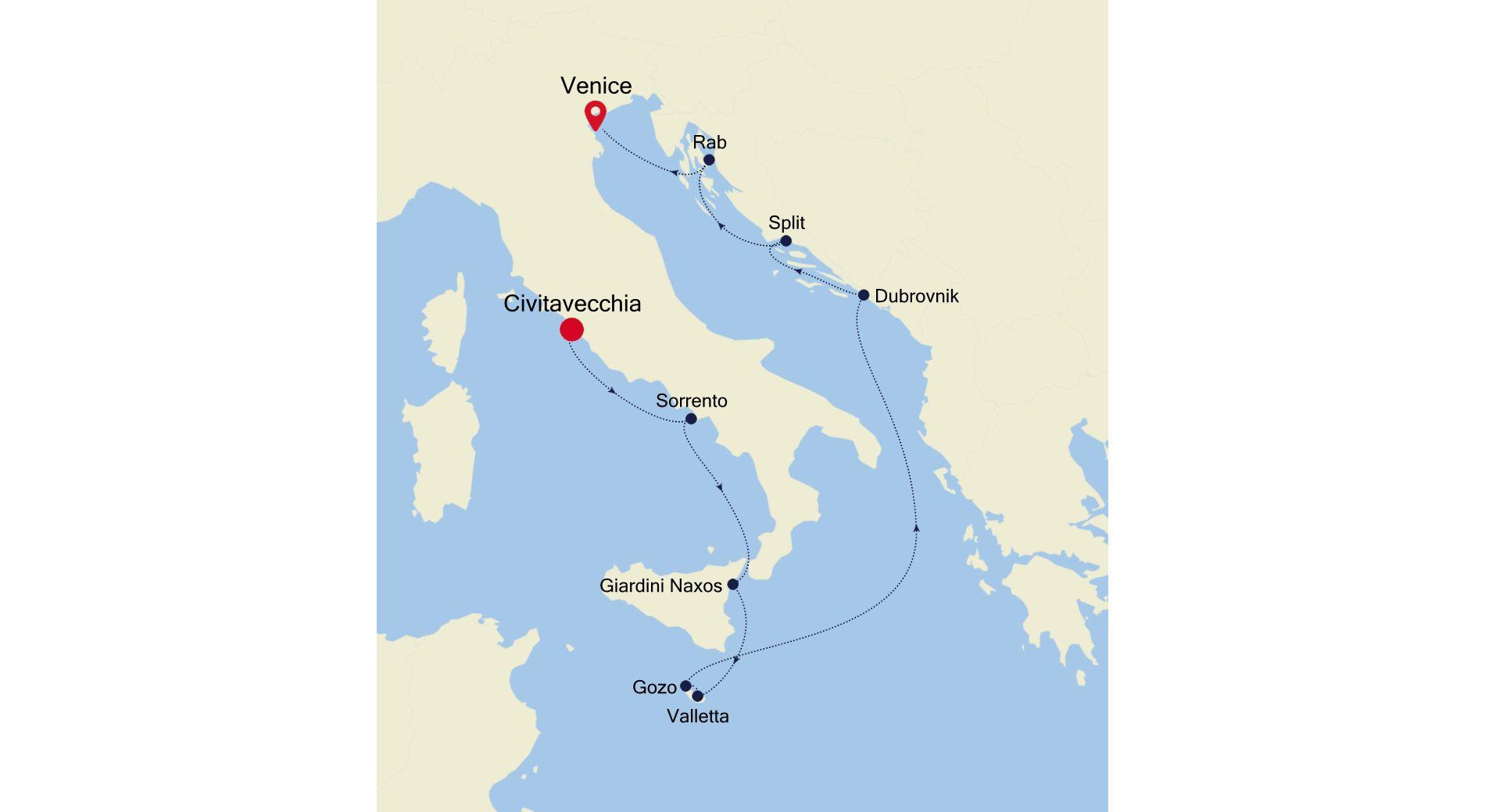 SS200707010 - Civitavecchia to Venice