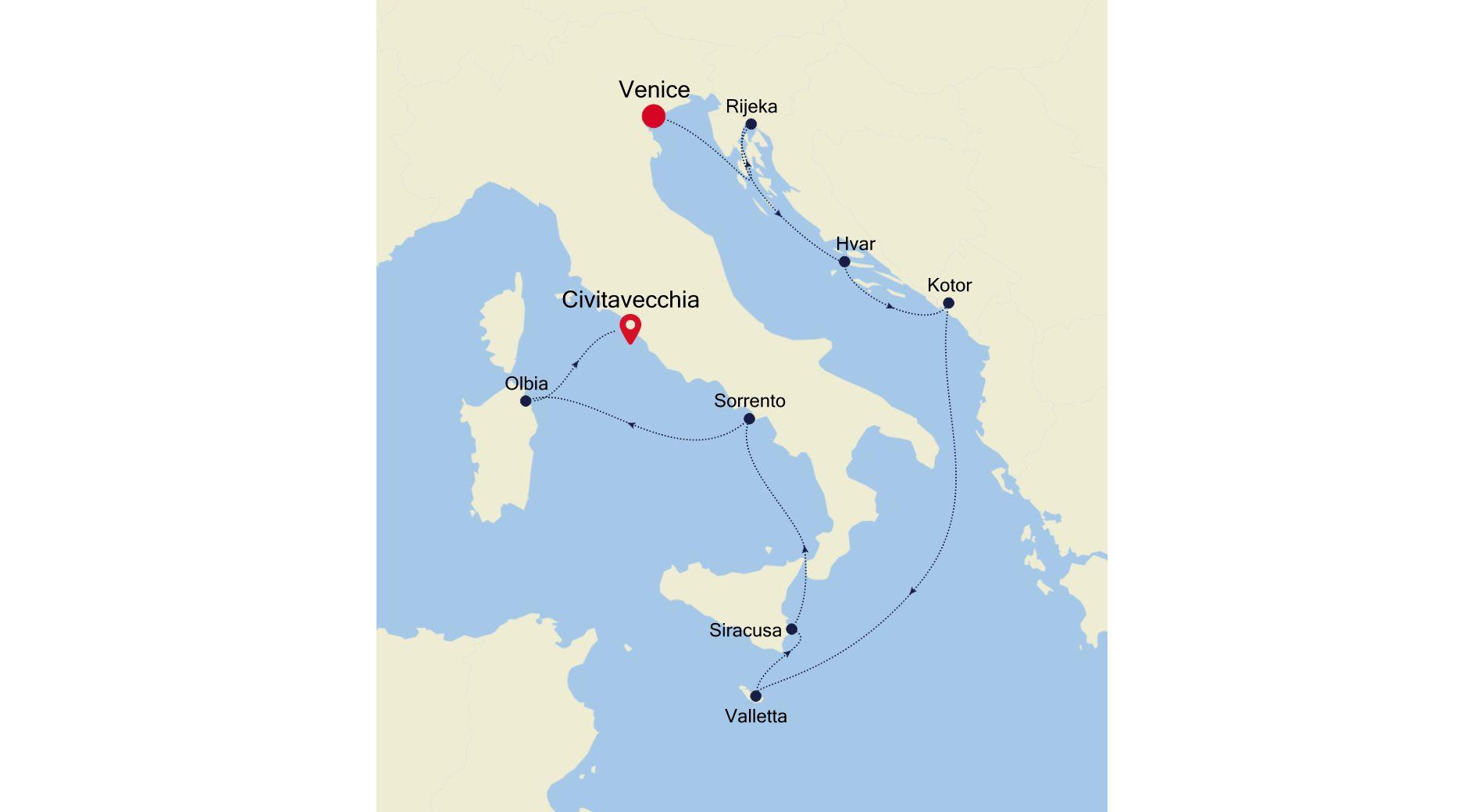 SS200821010 - Venice to Civitavecchia