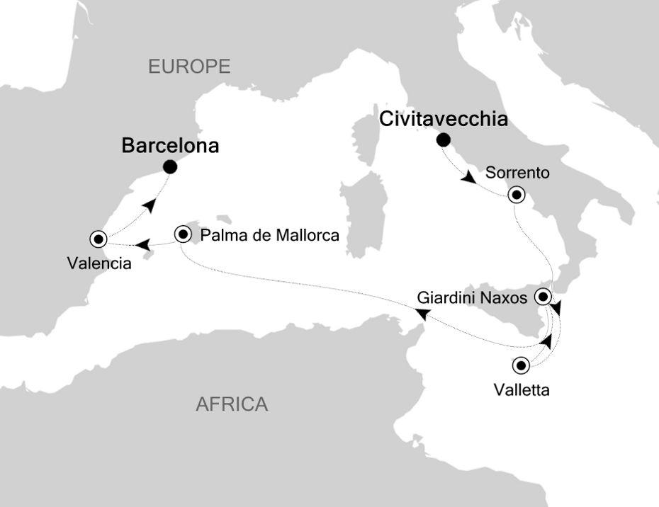 SS200831007 - Civitavecchia à Monte Carlo