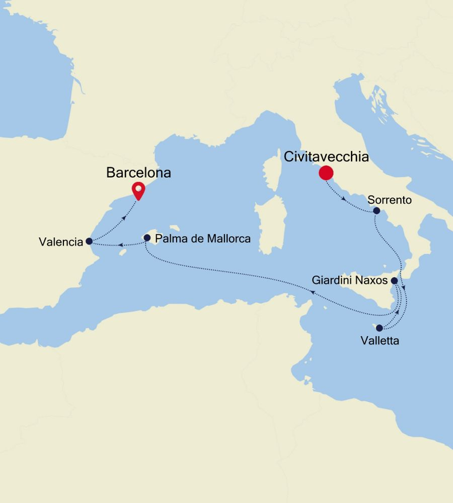 SS200831007 - Civitavecchia a Monte Carlo