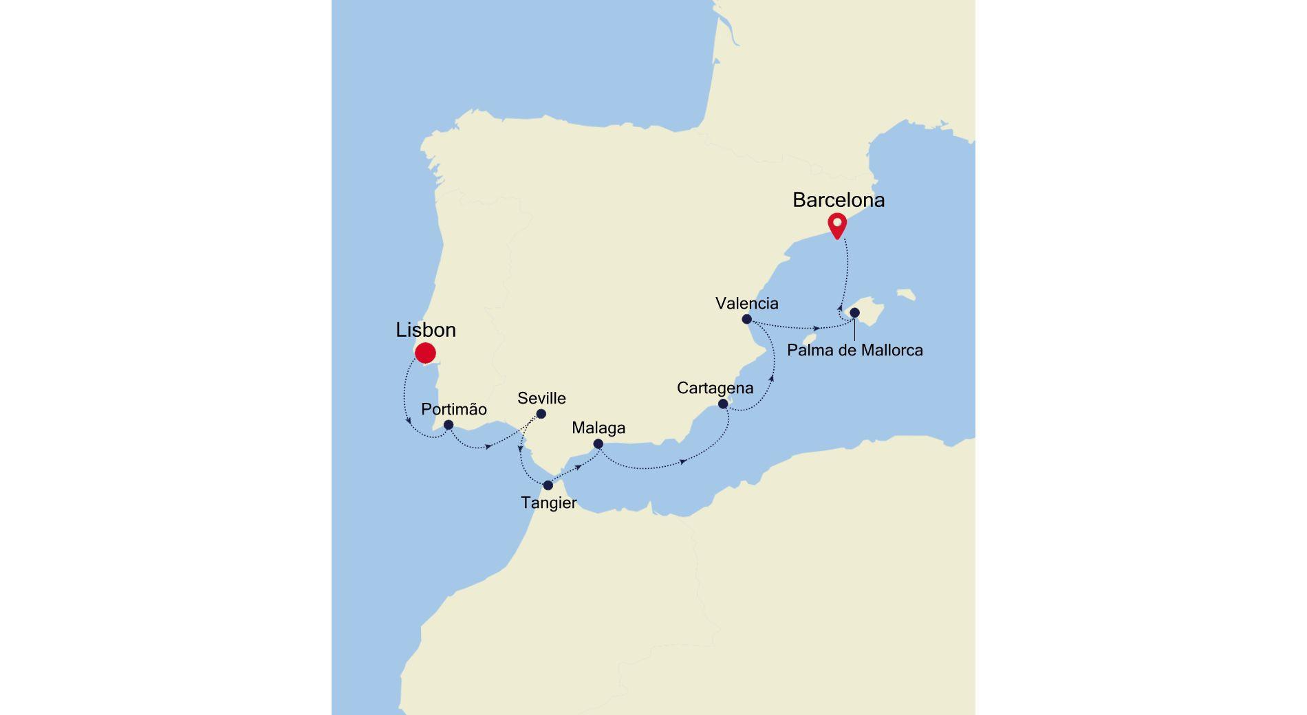 SS200913011 - Lisbon nach Barcelona