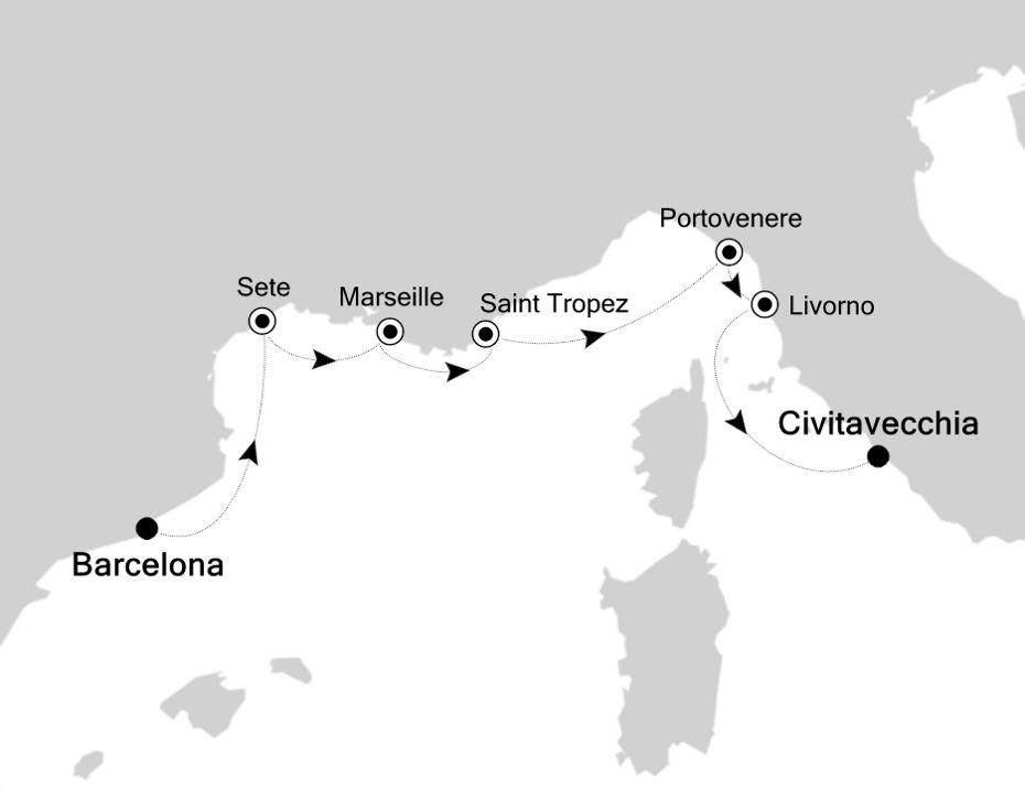 SS200924007 - Barcelona to Civitavecchia