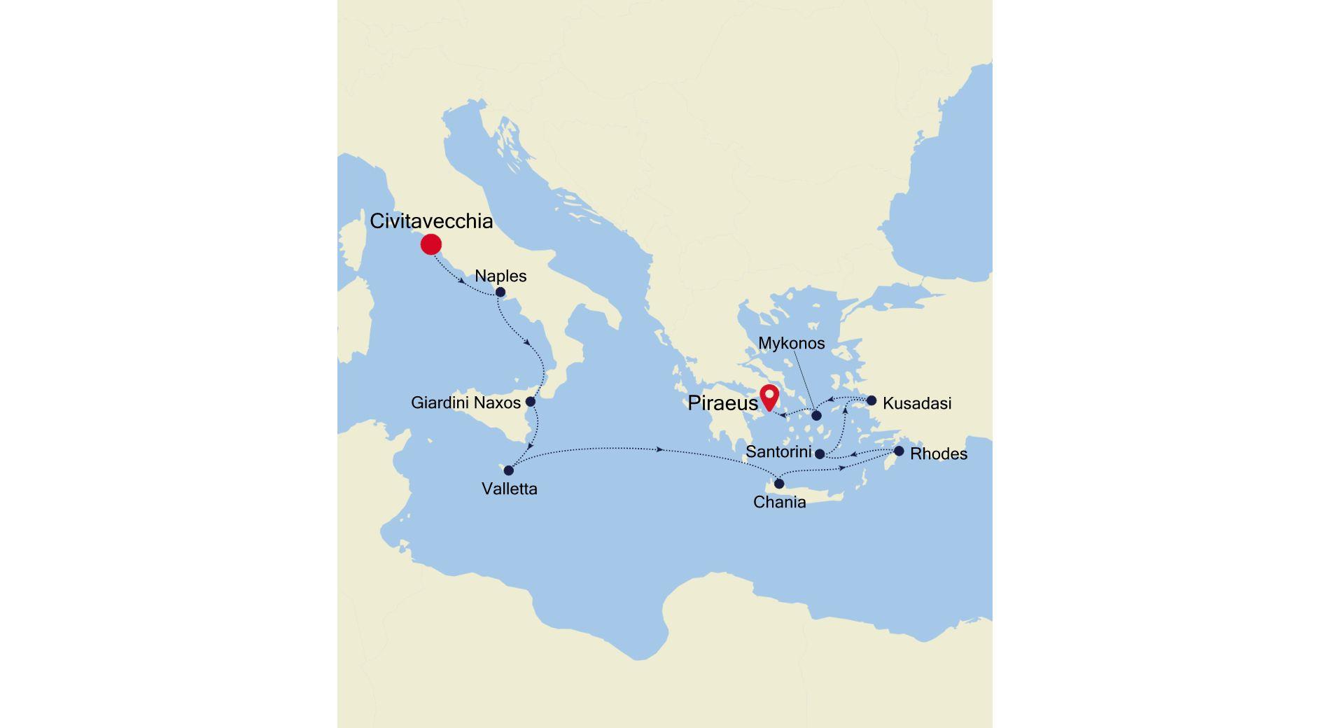 SS201001011 - Civitavecchia à Athens