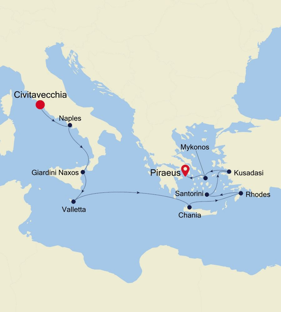 SS201001011 - Civitavecchia a Piraeus