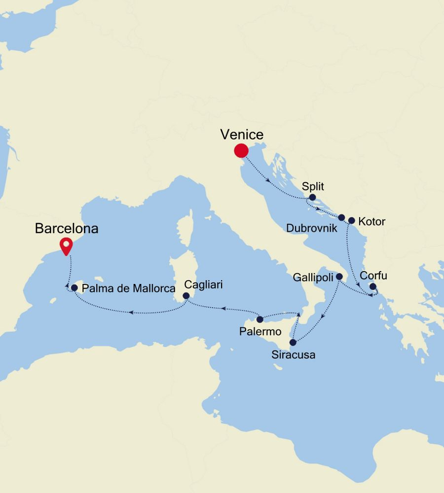 SS201029012 - Venice nach Barcelona