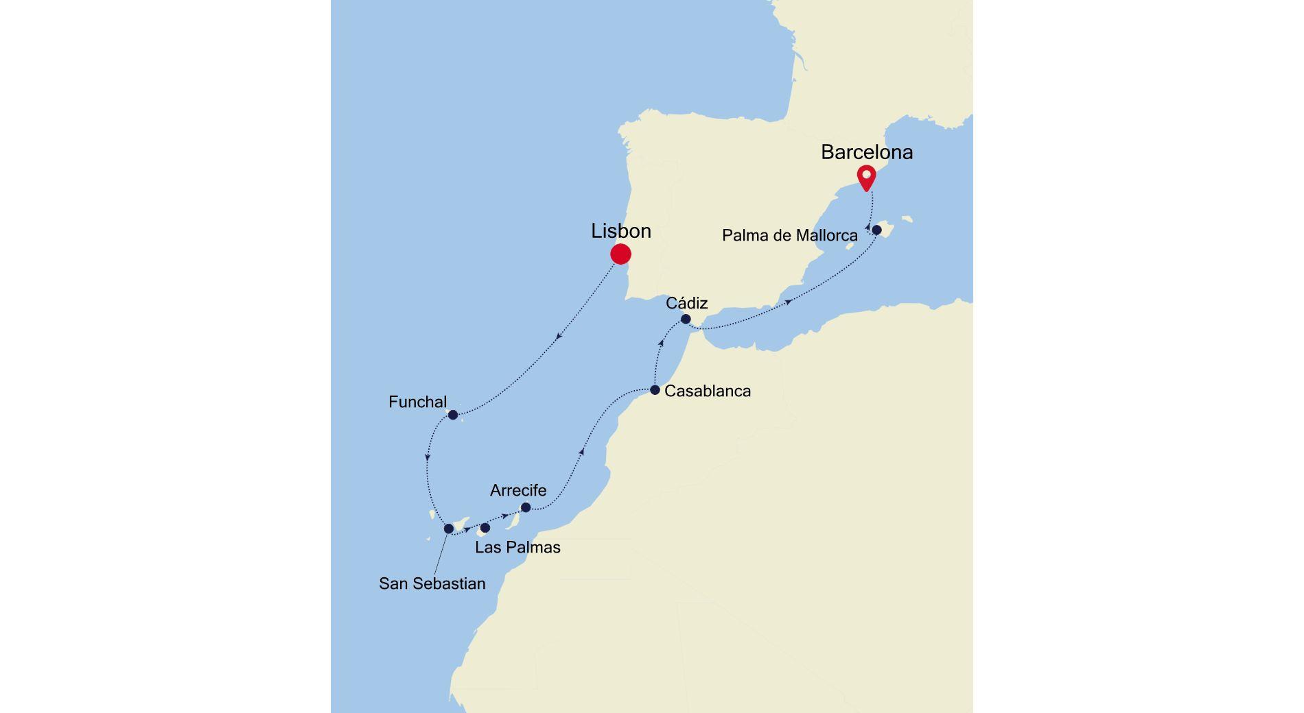 SS210428012 - Lisbon nach Barcelona