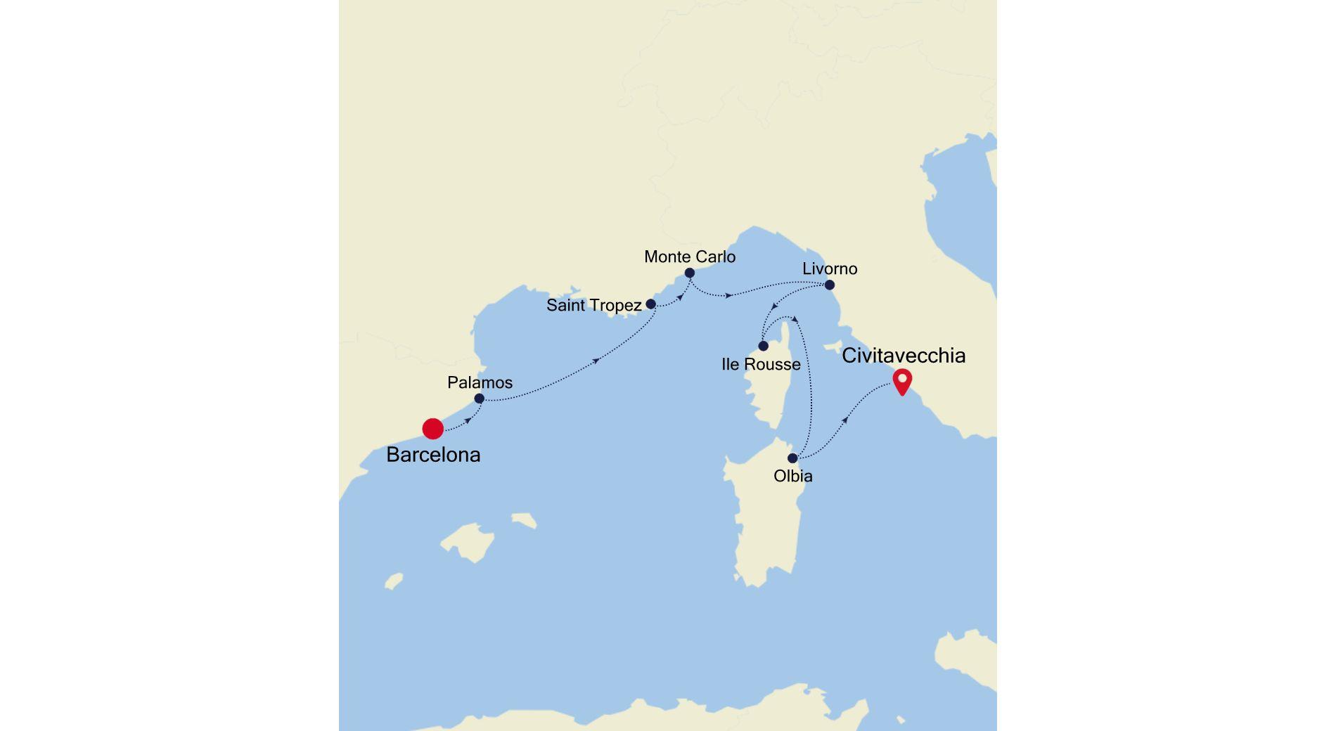 SS210510007 - Barcelona to Civitavecchia