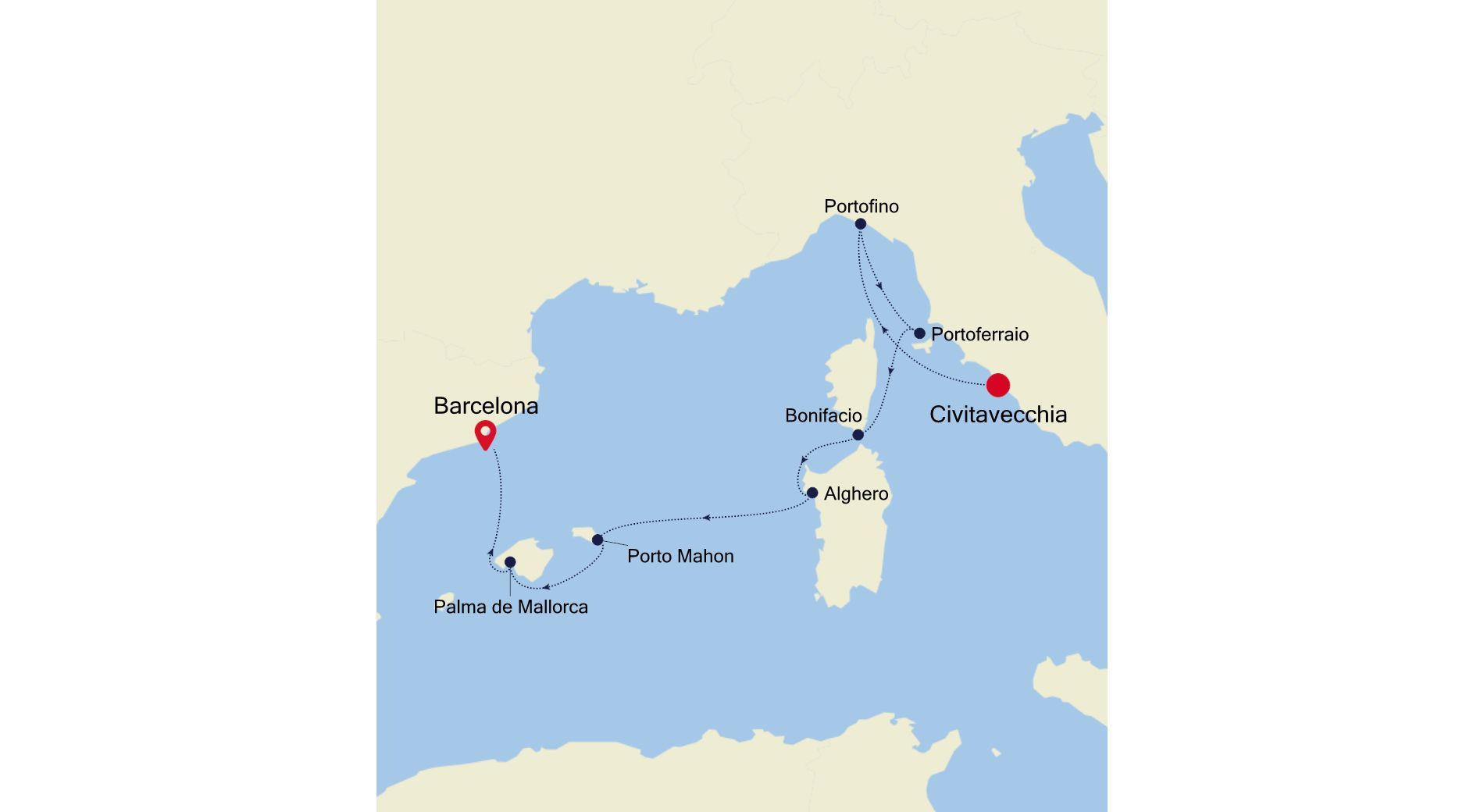 SS210517007 - Civitavecchia to Barcelona