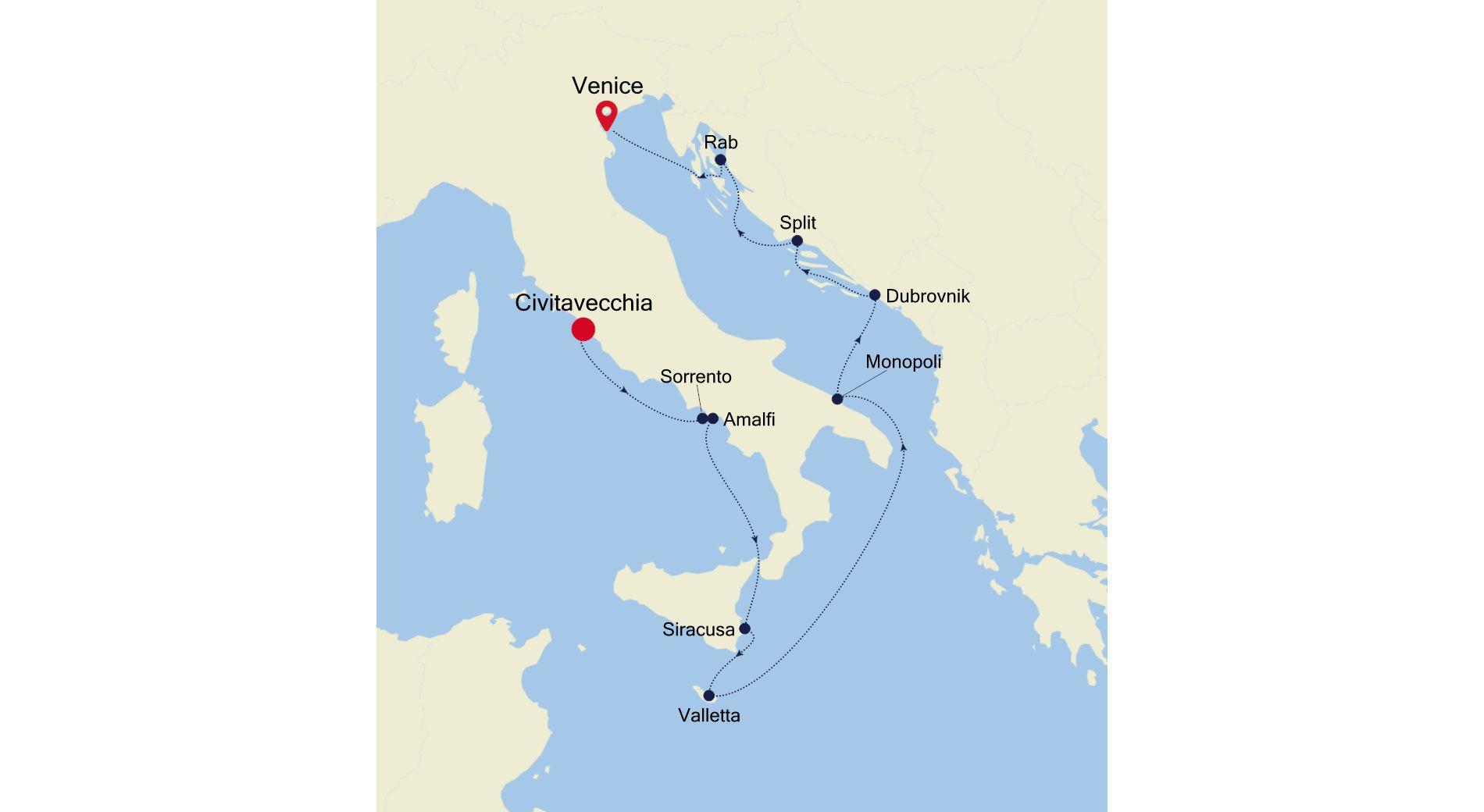 SS210727010 - Civitavecchia nach Venice