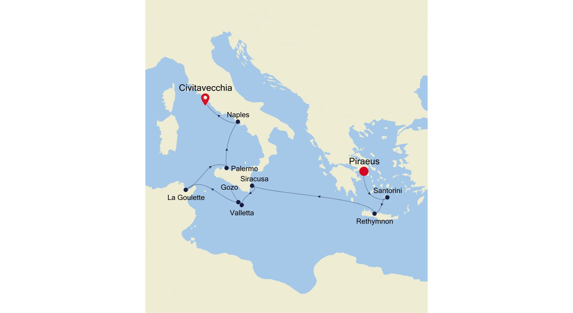 SS211005010 - Piraeus to Civitavecchia