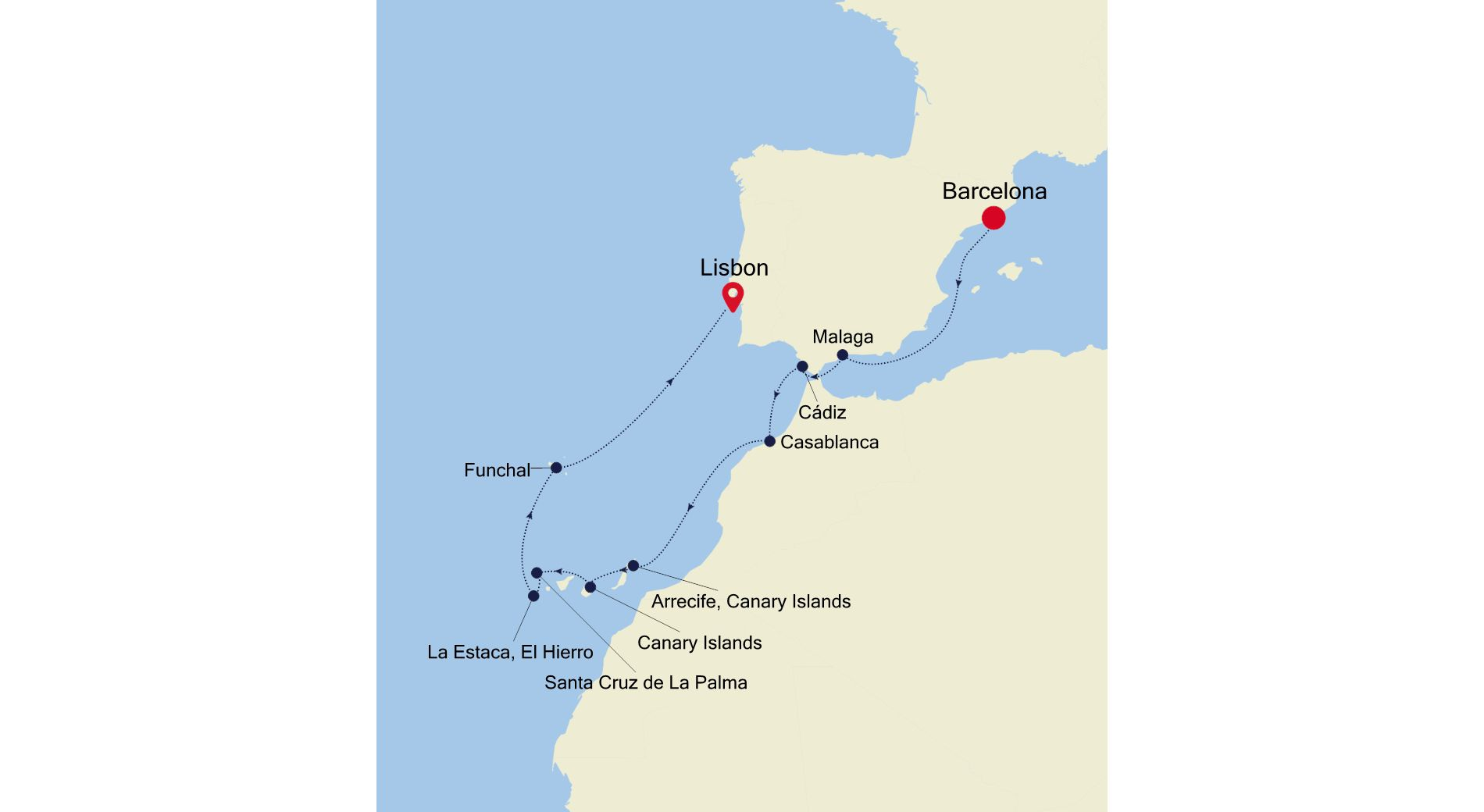 SS211024012 - Barcelona a Lisbon