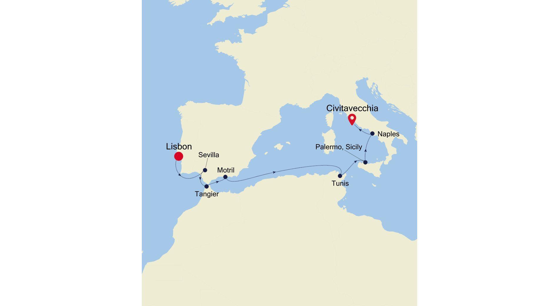 SS211105010 - Lisbon to Civitavecchia