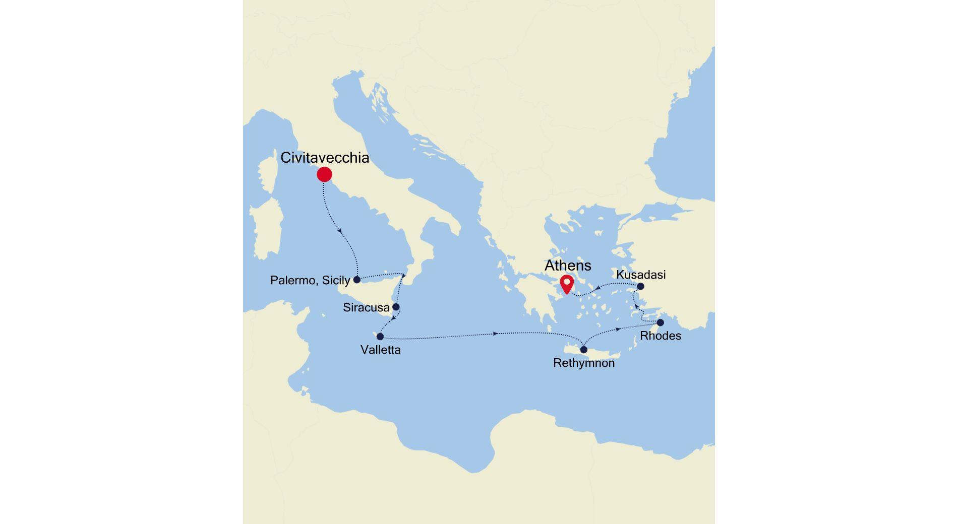 SS211115009 - Civitavecchia a Athens