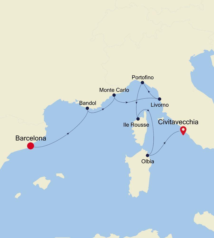 SL200604007 - Barcelona to Civitavecchia