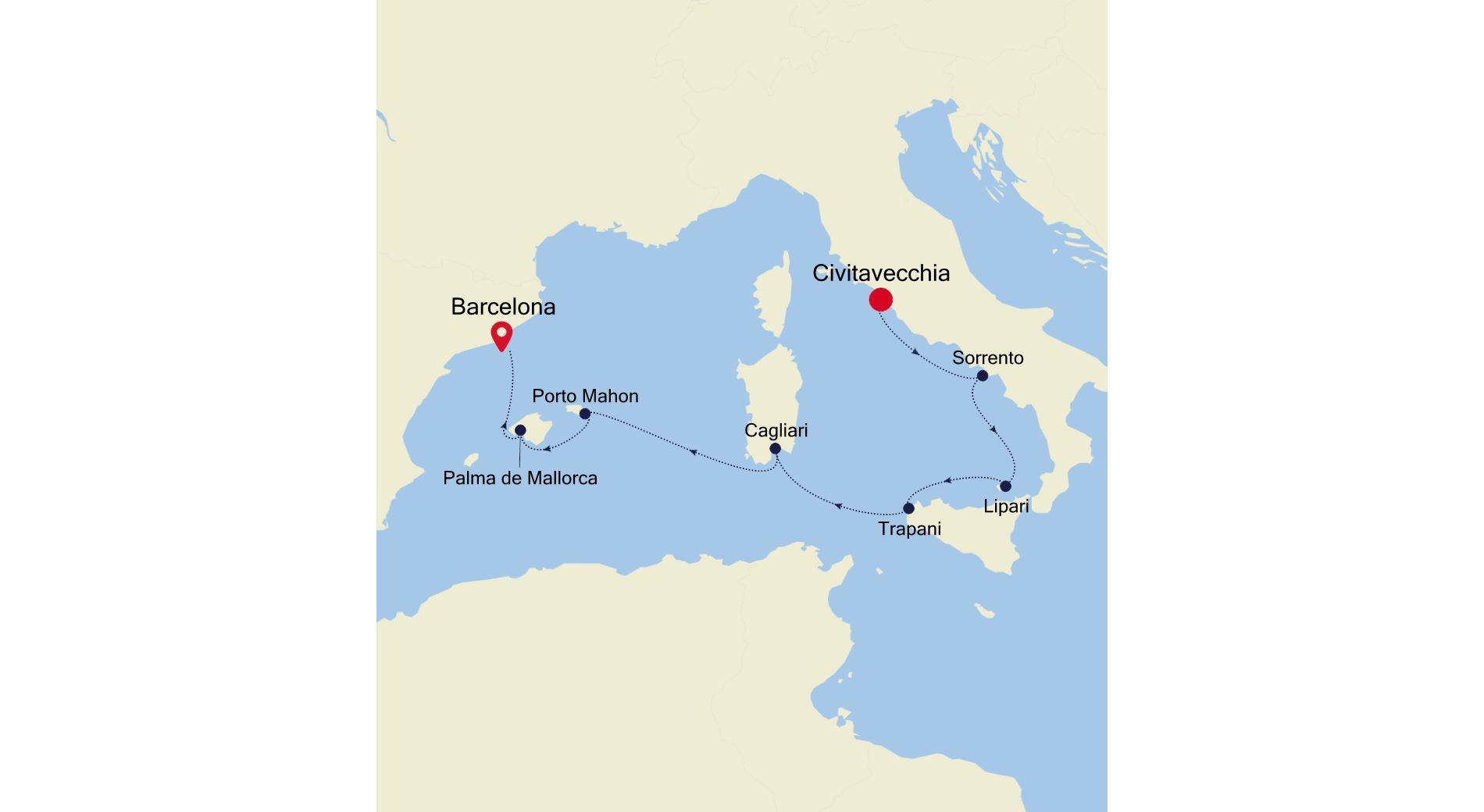 SL200611007 - Civitavecchia nach Barcelona