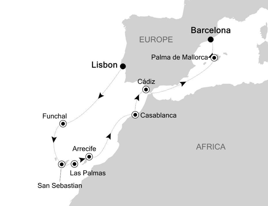 SL200925012 - Lisbon a Barcelona