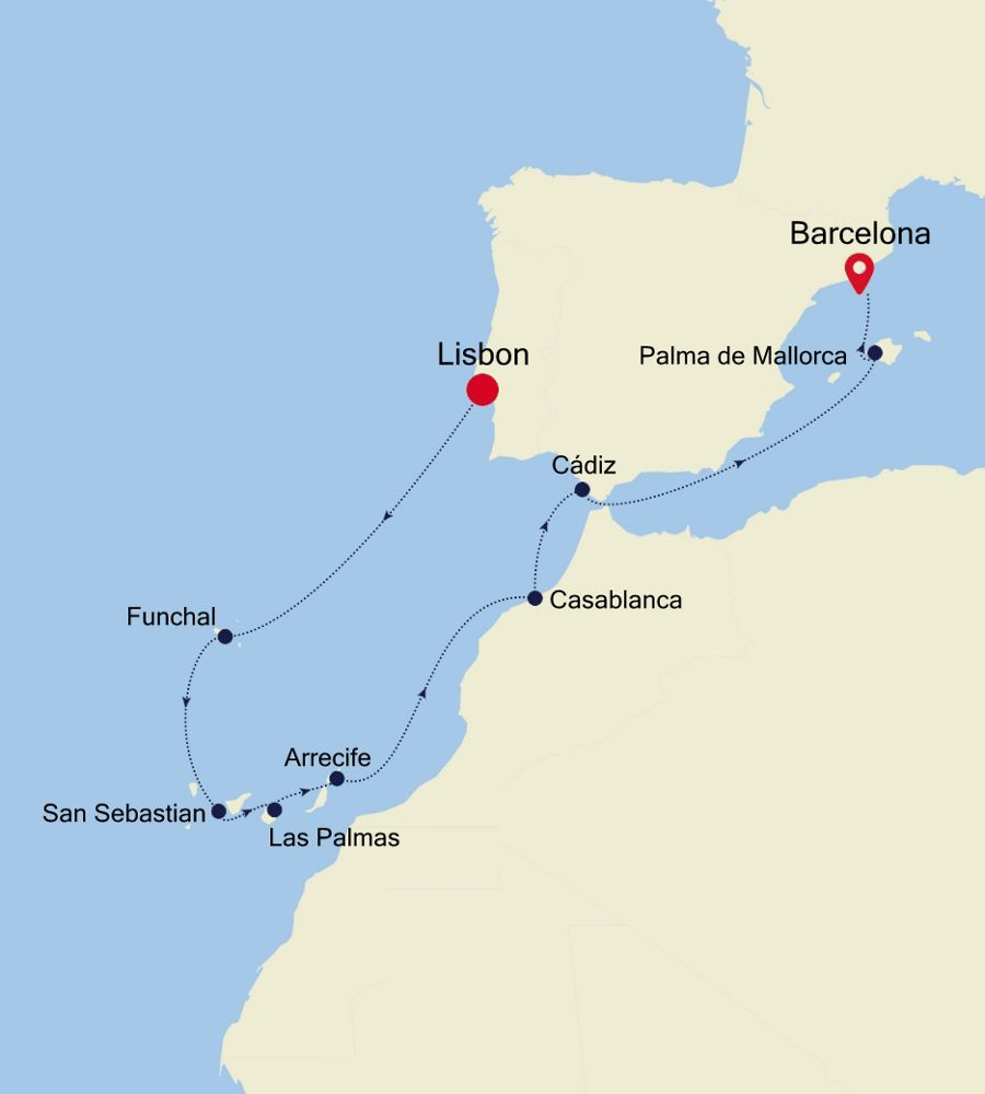 SL200925012 - Lisbon to Barcelona