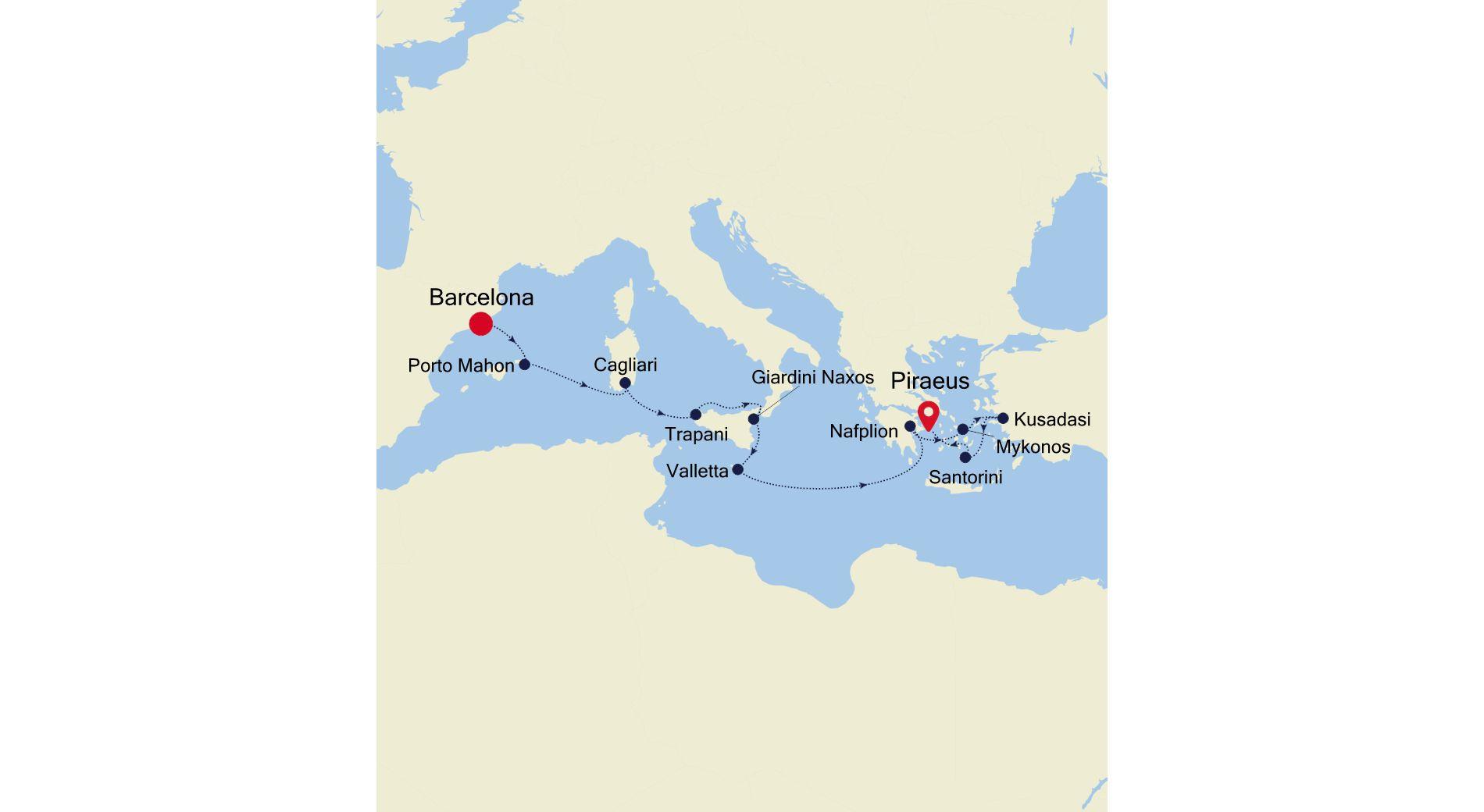 SL201017012 - Barcelona to Athens