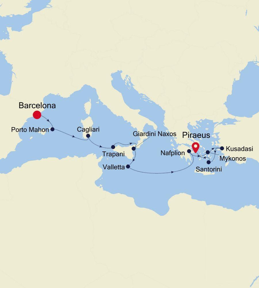 SL201017012 - Barcelona a Piraeus