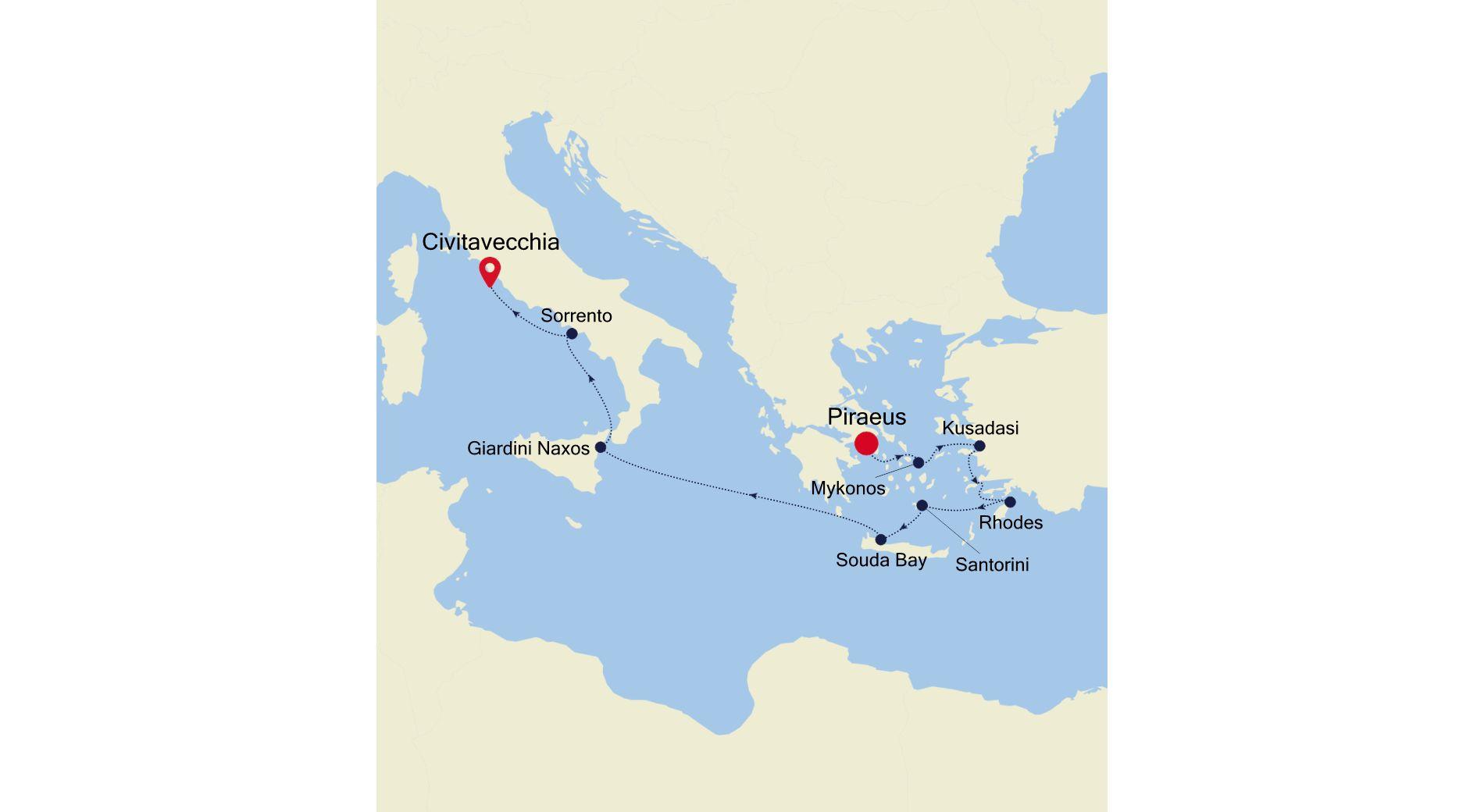 SL210425010 - Piraeus to Civitavecchia