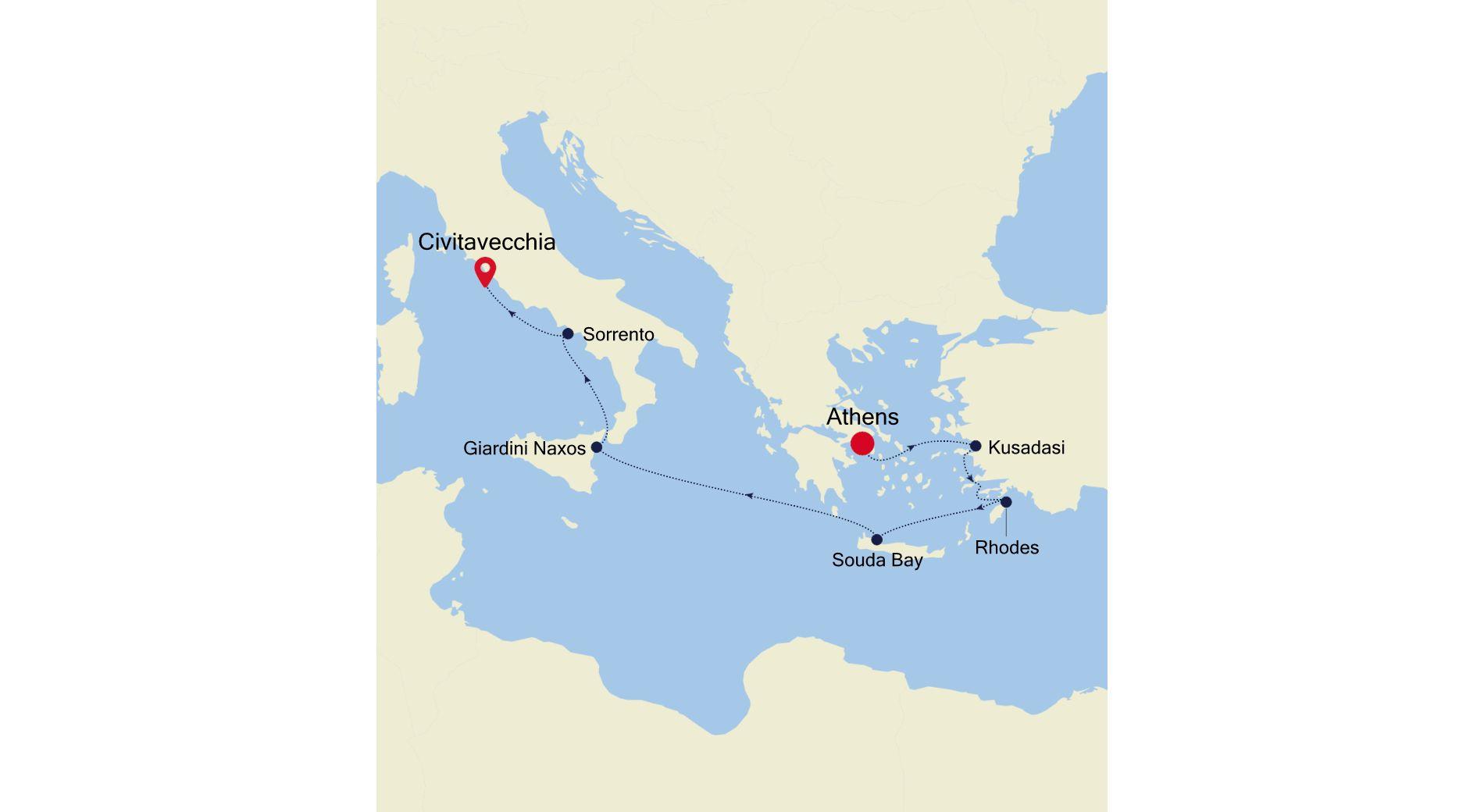 SL210427008 - Athens nach Civitavecchia