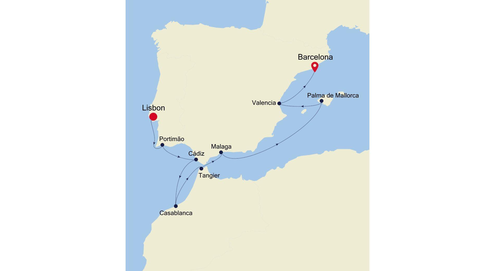 SL211020010 - Lisbon nach Barcelona