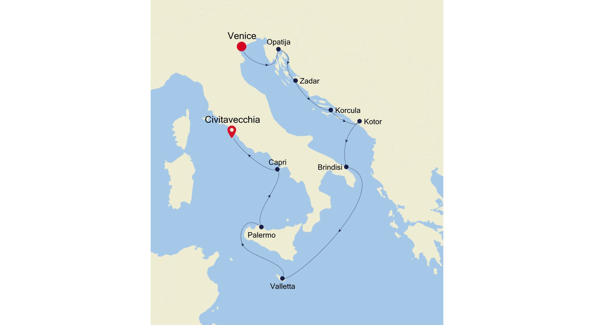 3927 - Venice to Civitavecchia