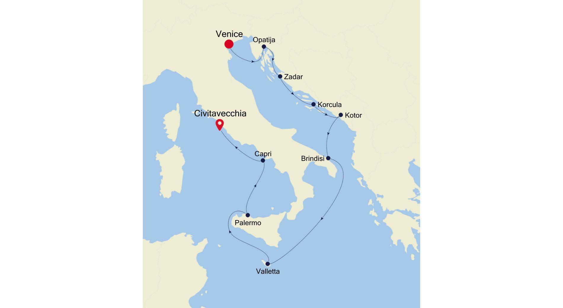 3927 - Venice à Civitavecchia