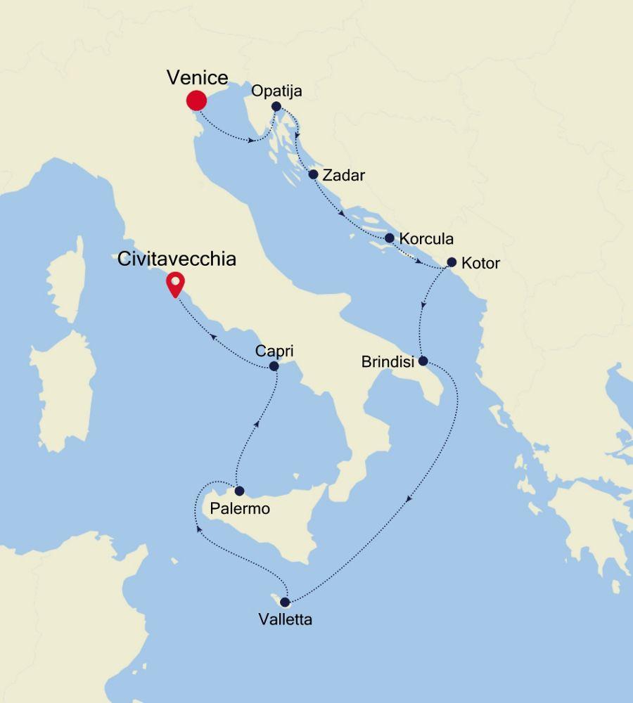 3927 - Venice a Civitavecchia