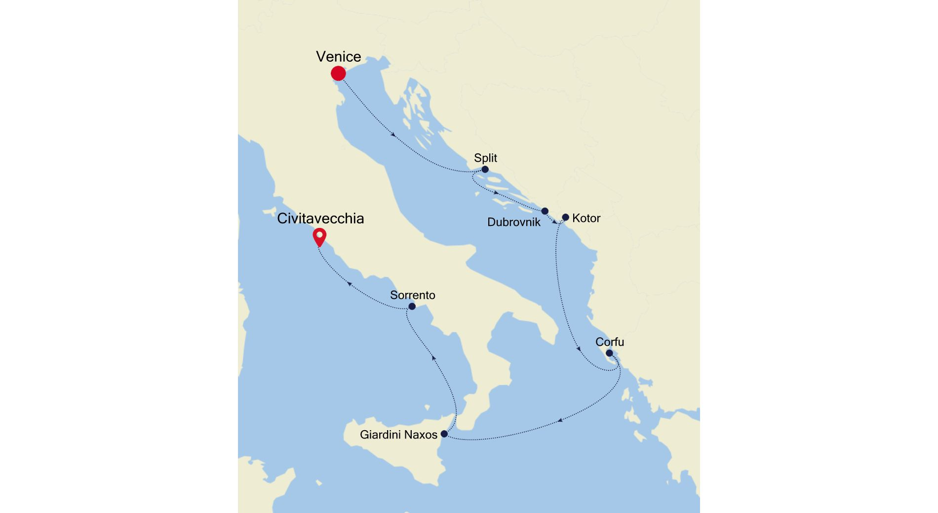 4919 - Venice to Civitavecchia