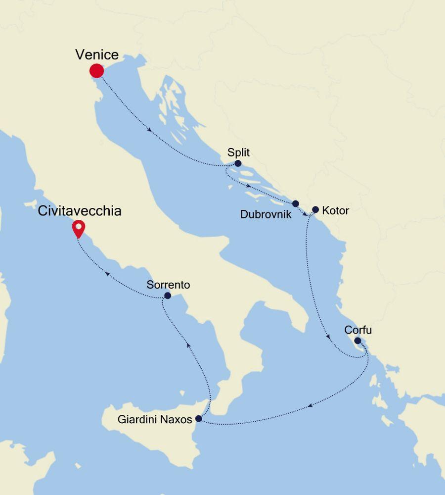 4919 - Venice a Civitavecchia