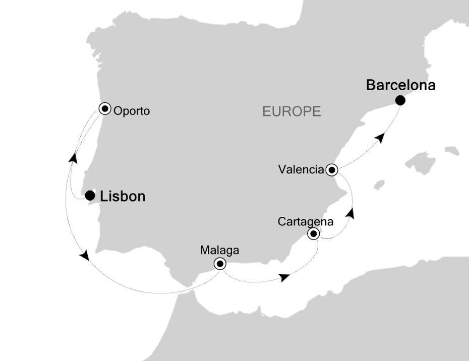 WH200727007 - Lisbon à Barcelona