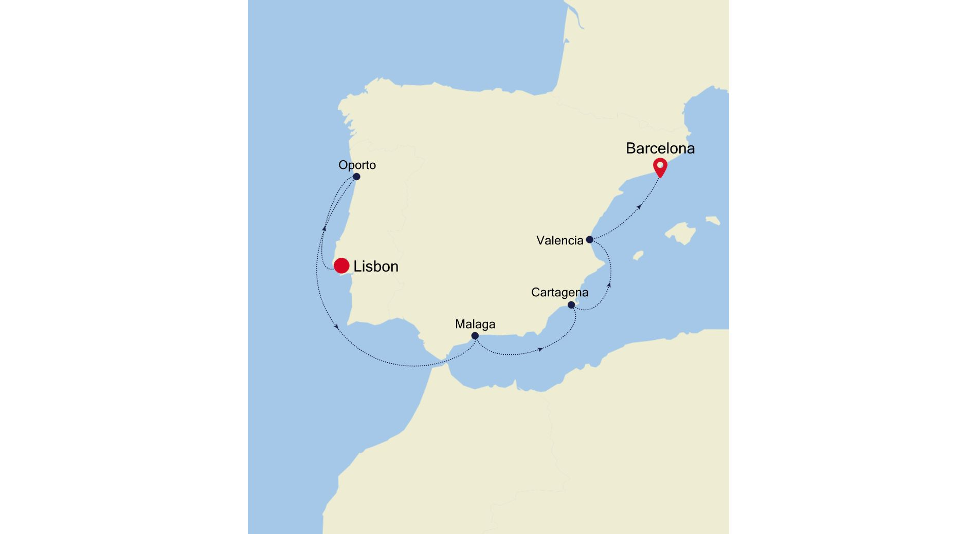 WH200727007 - Lisbon to Barcelona