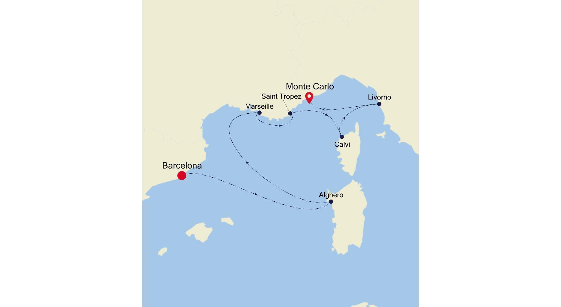 WH200803007 - Barcelona a Monte Carlo