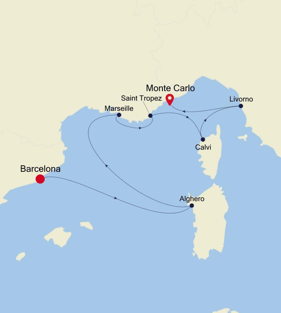 WH200803007 - Barcelona nach Monte Carlo