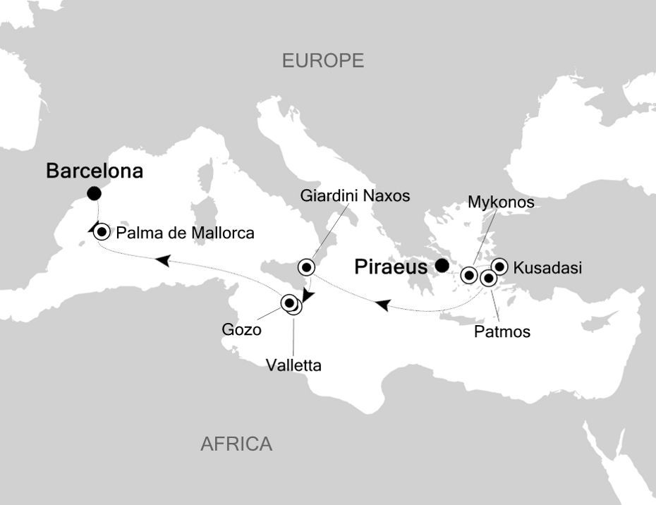 WH200828011 - Piraeus a Barcelona