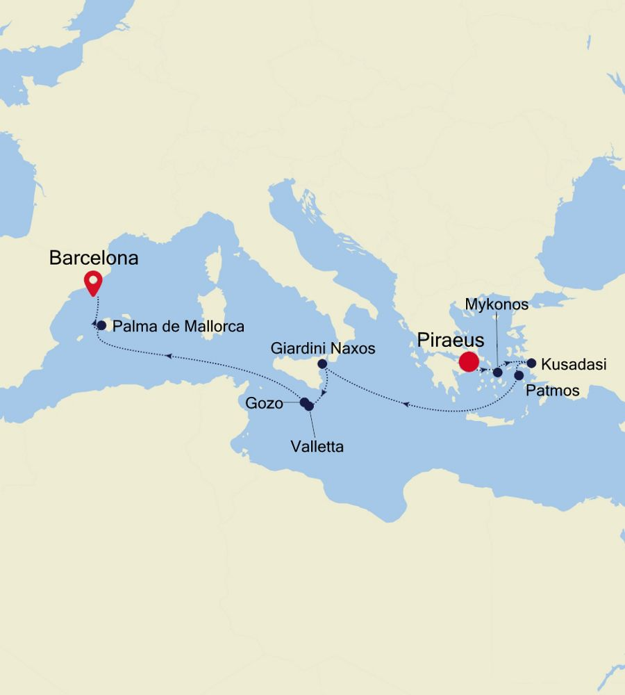 WH200828011 - Piraeus nach Barcelona