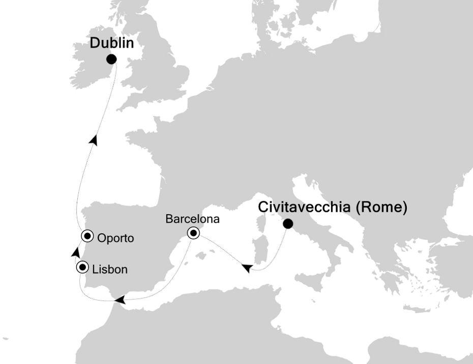 4008 - Civitavecchia to Dublin