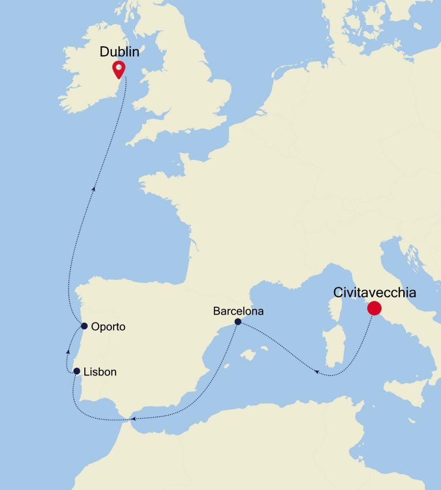 4008 - Civitavecchia nach Dublin