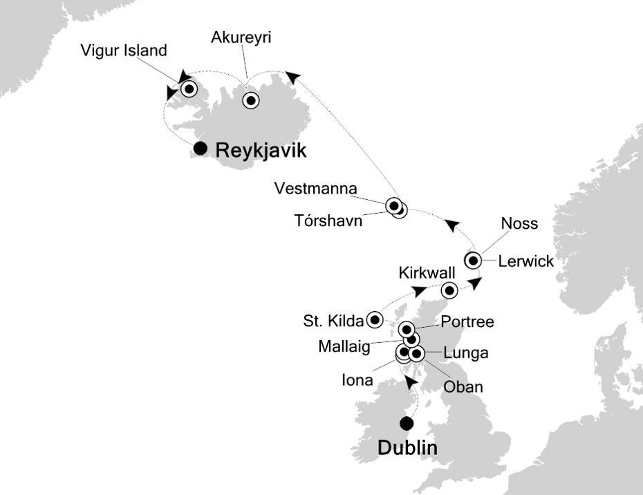 E4200529012 - Dublin nach Reykjavik