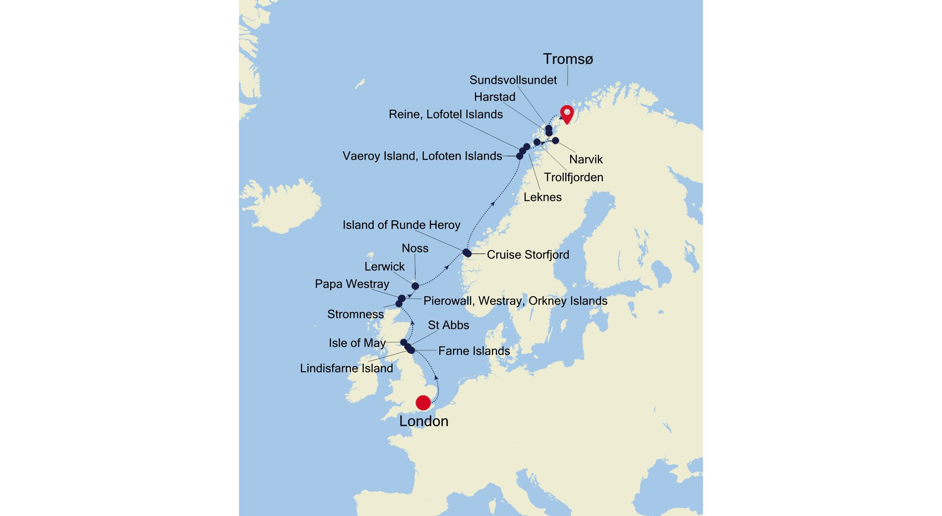 E4210614012 - London to Tromsø