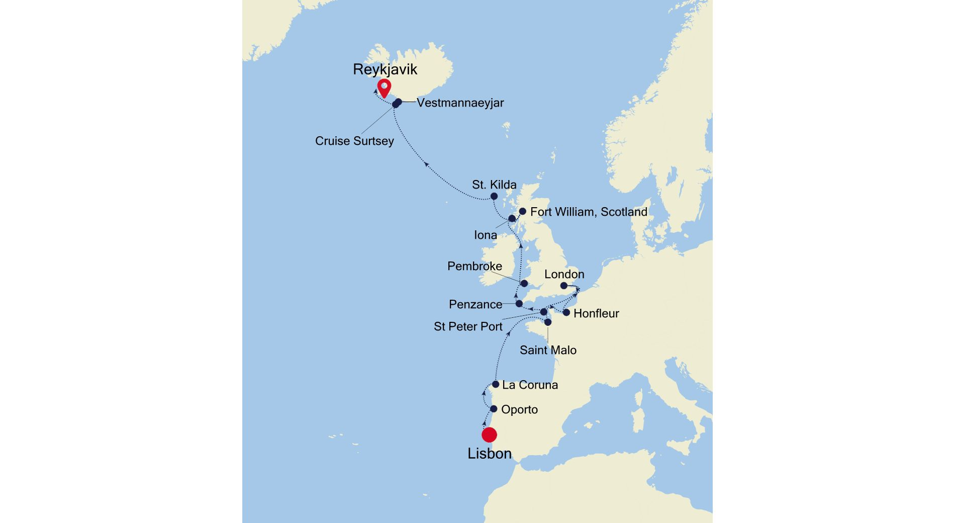 E4210616017 - Lisbon nach Reykjavik