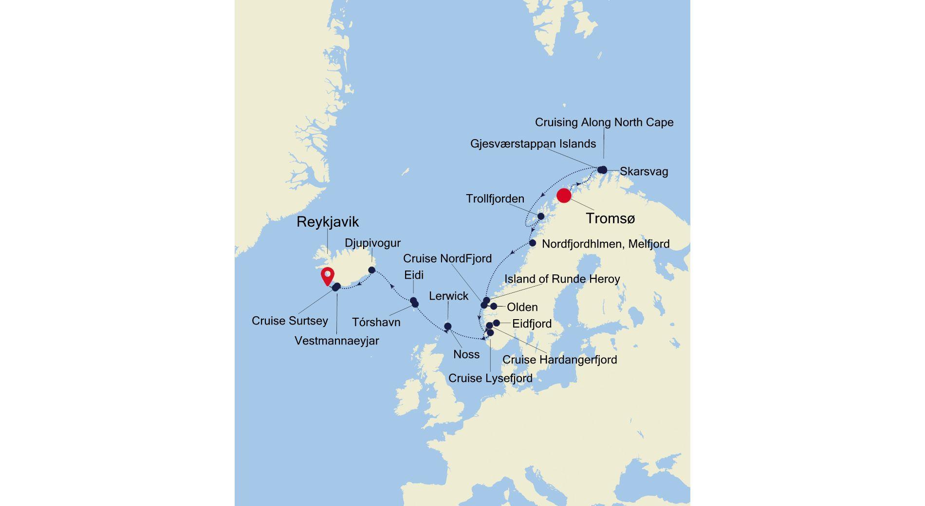 E4210716013 - Tromsø nach Reykjavik