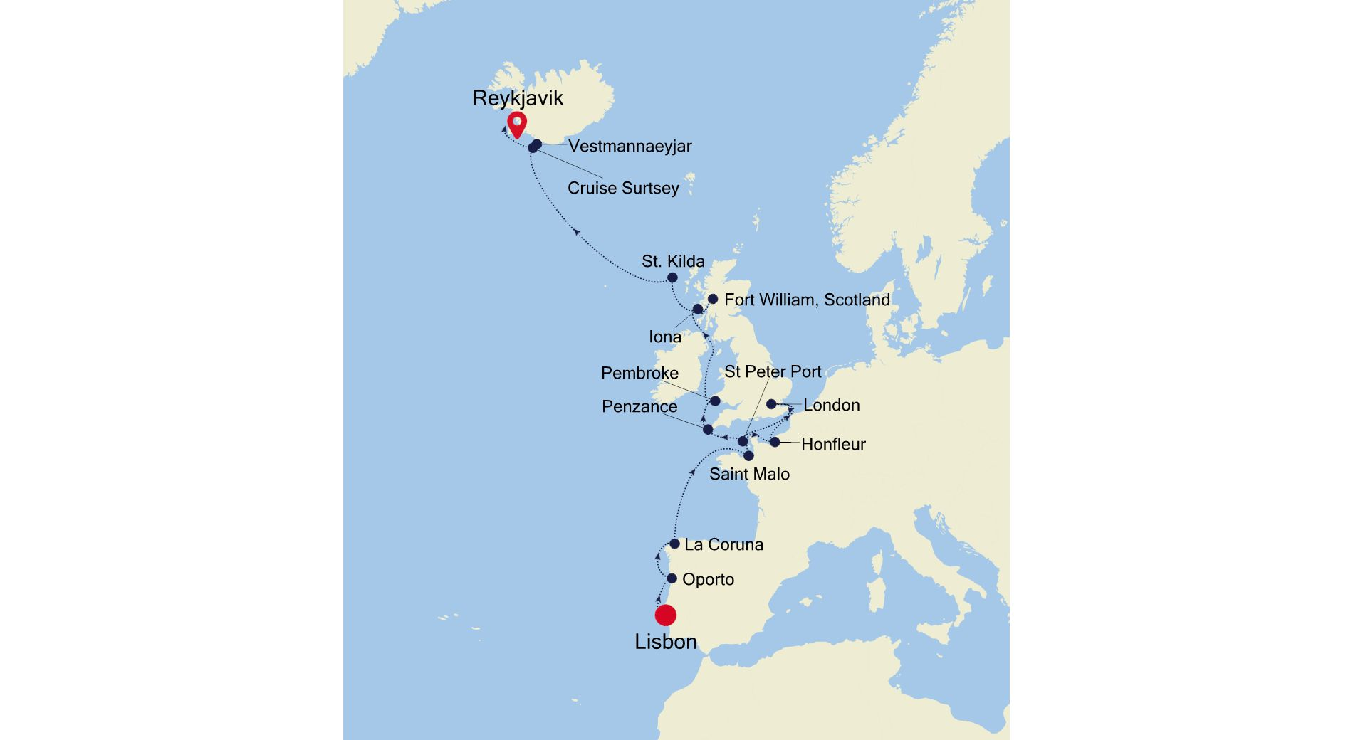 E4220611017 - Lisbon nach Reykjavik